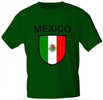 Kinder T-Shirt mit Print - Mexiko - 76107 - grün - Gr. 122/128