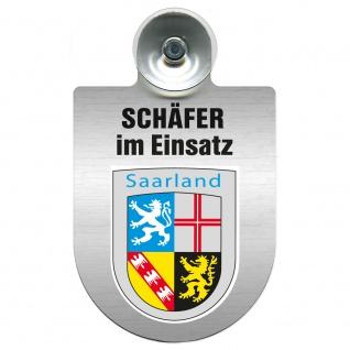Einsatzschild Windschutzscheibe incl. Saugnapf - Schäfer im Einsatz - 309387 - Region Saarland