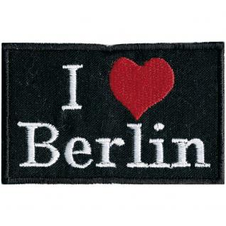 AUFNÄHER - Berlin - 00043 - Gr. ca. 7, 5cm x 5cm - Patches Stick Applikation