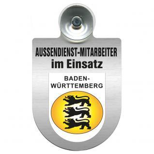 Einsatzschild Windschutzscheibe incl. Saugnapf - Außendienstmitarbeiter im Einsatz - 309366-1 - Region Baden-Württemberg