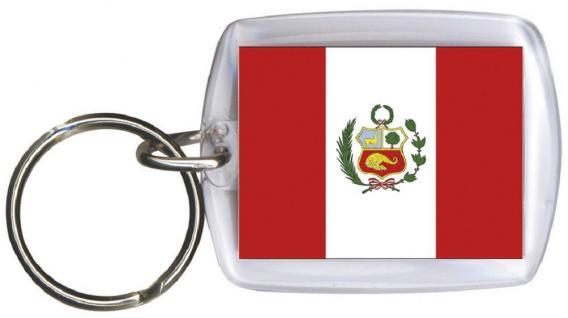 Schlüsselanhänger - PERU - Gr. ca. 4x5cm - 81130 - Keyholder Anhänger WM Länder