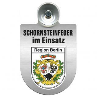 Einsatzschild Windschutzscheibe incl. Saugnapf - Schornsteinfeger im Einsatz - 309398-14 Region Berlin