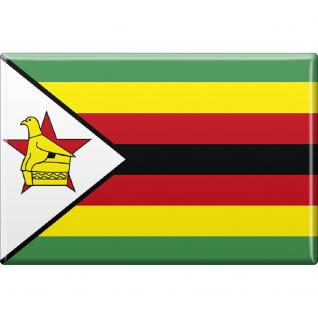 Kühlschrankmagnet - Länderflagge Simbabwe - Gr.ca. 8x5, 5 cm - 37821 - Magnet
