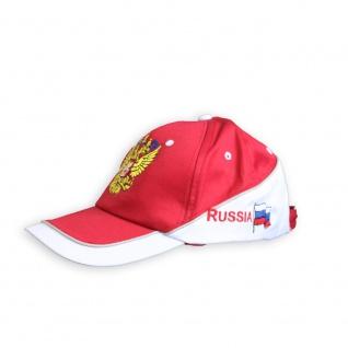 Baseballcap mit Einstickung Wappen Flagge Russland Russia - 68681/1 rot/weiss