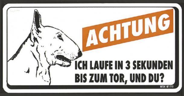 Humorvolles Warnschild - Achtung ich laufe in 3 Sekunden ?- 308199 - 20cm x 10cm - Wachhund