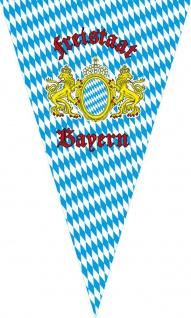Wimpel mit Print - Freistaat Bayern - 07744 blau-weiß Gr. ca. 90cm x 150cm