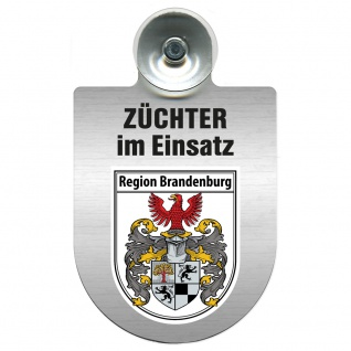 Einsatzschild Windschutzscheibe incl. Saugnapf - Züchter im Einsatz - 309384 Region Brandenburg