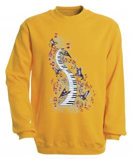 S-Shirt mit Print - Klavier - 09018 - versch. farben zur Wahl - Gr. gelb / XL