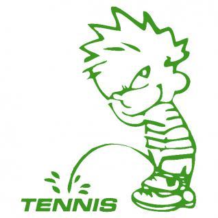 Pinkelmännchen-Applikations- Aufkleber - ca. 15 cm - Tennis - 303643 - grün