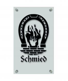 Zunftschild Handwerkerschild - Schmied - beschriftet auf edler Acryl-Kunststoff-Platte ? 309408 schwarz