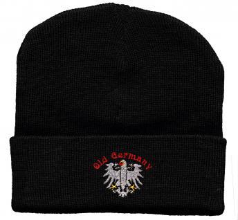 HIP-HOP Mütze Strickmütze mit Einstickung - OLD GERMANYBUNDESADLER - 31510 schwarz