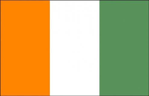 Stockländerfahne - Elfenbeinküste - Gr. ca. 40x30cm - 77046 - Länderflagge Hissfahne