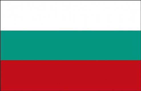 Stockländerfahne - Bulgarien - Gr. ca. 40x30cm - 77032 - Schwenkflagge