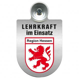 Einsatzschild Windschutzscheibe incl. Saugnapf - Lehrkraft im Einsatz - 309364 Region Hessen