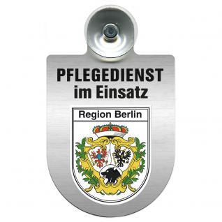 Einsatzschild Windschutzscheibe incl. Saugnapf - Pflegedienst im Einsatz - 309358-14 - Region Berlin