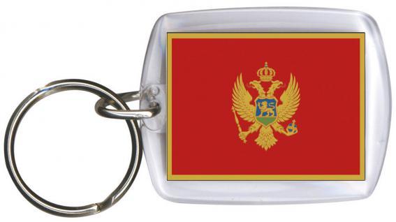 Schlüsselanhänger Anhänger - MONTENEGO - Gr. ca. 4x5cm - 81112 - WM Länder Keyholder