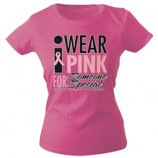 Girly-Shirt mit Print Wear Pink for Someone Special - G12167 Gr. rosa / L