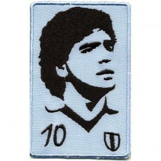 Aufnäher - Fussballspieler Maradonna 10 - 01747 - Gr. ca. 6 x 9 cm - Patches Stick Applikation