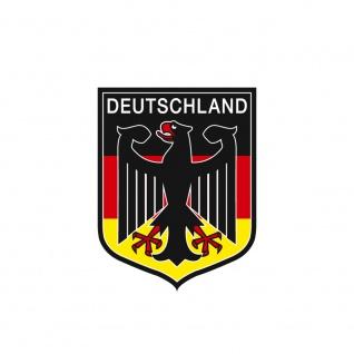 Magnetbutton - Deutschland Wappen - weiß - Gr. ca. 5, 7 cm - 16225 - Küchenmagnet