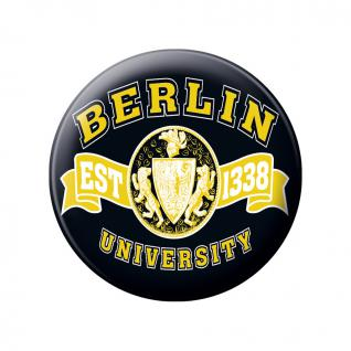 Ansteckbutton - Berlin EST 1328 University - 18833 - Gr. ca. 5, 7cm