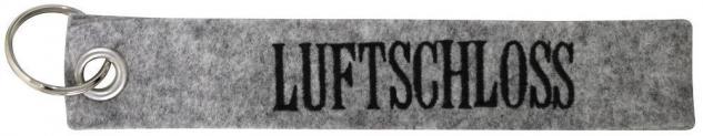 Filz-Schlüsselanhänger mit Stick - Luftschloss - Gr. ca. 17x3cm - 14163