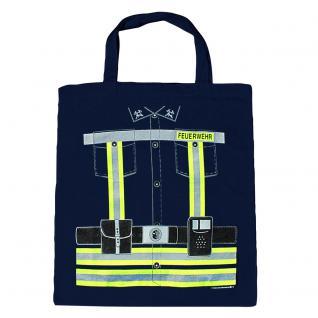 Baumwolltasche mit beidseitigem Druck - Feuerwehr - 08984 dunkelblau