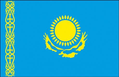 Hissflagge Stockländerfahne - Kasachstan - Gr. ca. 40x30cm - 77079 - Schwenkflagge