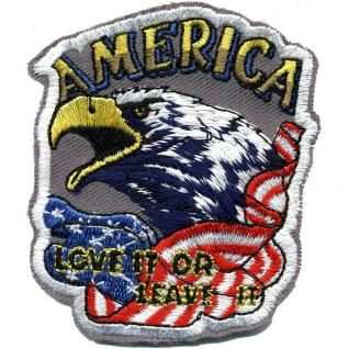 Applikation Patches Aufnäher Abzeichen - America Flagge Adler - Gr. ca. 8cm x 6cm (04362)