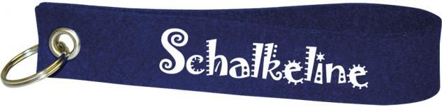 Filz-Schlüsselanhänger mit Stick Schalkeline Gr. ca. 17x3cm 14033 dunkelblau