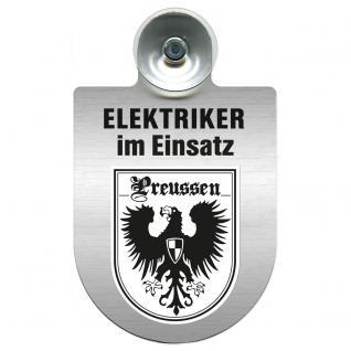 Einsatzschild für Windschutzscheibe incl. Saugnapf - Elektriker im Einsatz - 309489-19 Region Preussen