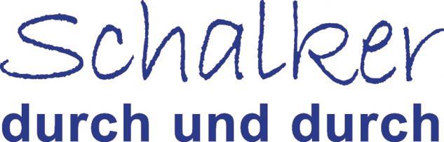 """Applikation """" Schalker durch und durch"""" in 5 Farben und 5 Größen AP4204 blau / 25 cm"""