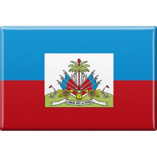 Kühlschrankmagnet - Länderflagge Haiti - Gr.ca. 8x5, 5 cm - 38045 - Magnet
