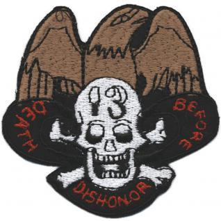 Aufnaeher Patches Applikation Wappen 10,5 x 6,5 cm Totenkopf Adler 04697 a