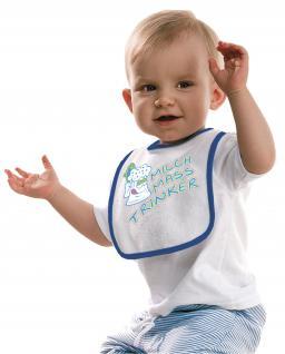 Baby-Lätzchen - Druckmotiv - Milch Mass Trinker - 08457 - weiß