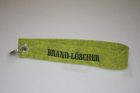 Filz-Schlüsselanhänger mit Stick - Brandlöscher - Gr. ca. 17x3cm - 14265