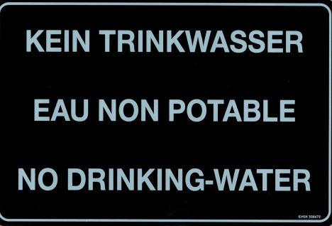 Hinweisschild - KEIN TRINKWASSER 3 Sprachen - 308615 - 30cm x 20cm