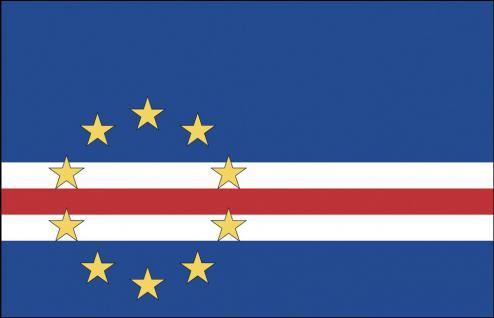 Hissflagge Stockländerfahne - Kap Verde - Gr. ca. 40x30cm - 77078 - Schwenkfahne
