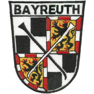 AUFNÄHER - Wappen Bayreuth - 00438 - Gr. ca. 9 x 6, 5 cm - Patches Stick Applikation