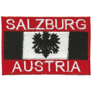 AUFNÄHER - SALZBURG - AUSTRIA - 00482 - Gr. ca. 8, 5 x 5, 5 cm - Patches Stick Applikation