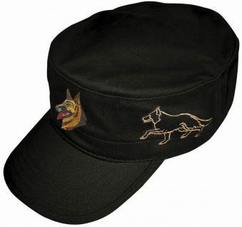 Militarycap - Hobby - Cap mit schöner Stickerei - Schäferhund - 60501 schwarz - Cap Kappe Baseballcap