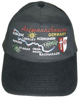 Baseballcap mit Einstickung - Assmannshausen Germany - 68928 schwarz