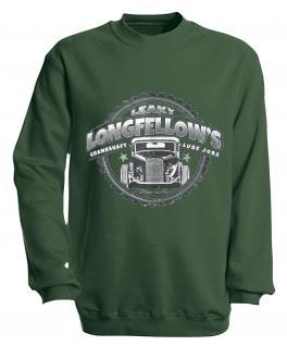 Sweatshirt mit Print - Longfellows - versch. farben zur Wahl - S10281 - Gr. grün / S