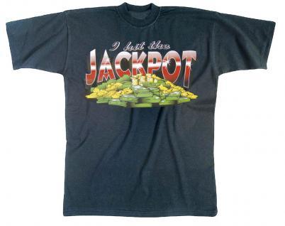 T-Shirt unisex mit Print - I hit the Jackpot - 09271 dunkelblau - Gr. M