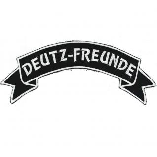 AUFNÄHER Rückenaufnäher - Deutz-Freunde - 07307/1 - Gr. ca. 28 x 10, 5 cm - Patches Stick Applikation