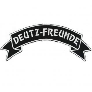Rückenaufnäher - Deutz-Freunde - 07307/1 - Gr. ca. 28 x 7 cm - Patches Stick Applikation