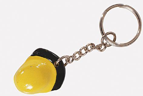 Metall- Schlüsselanhänger mit plastischem Feuerwehrmotiv Kette und starkem Schlüsselring - Feuerwehrhelm - 02317