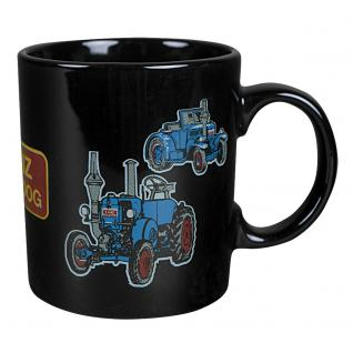Tasse Kaffeebecher mit Print Traktor Lenz blau 57483