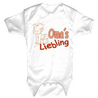 Babystrampler mit Print ? Opa´s Liebling - 08301 versch. Farben Gr. weiß / 18-24 Monate