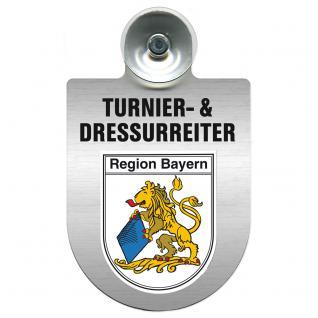 Einsatzschild Windschutzscheibe incl. Saugnapf - Turnier- und Dressurreiter im Einsatz - 309471-2 Region Bayern