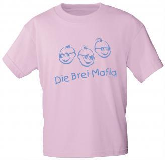 Kinder T-Shirt mit Aufdruck - Die Brei-Mafia - 06968 - rosa - Gr. 86/92